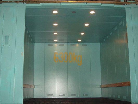 Лифт грузовой установка