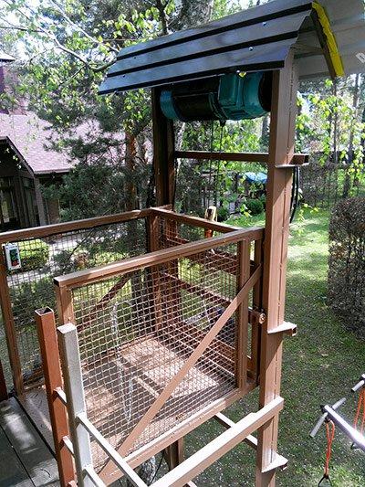 Консольний підйомник для підняття вантажу на балкон, с. Козин