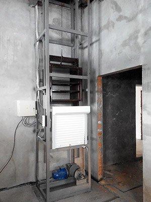 Монтаж складского подъемника
