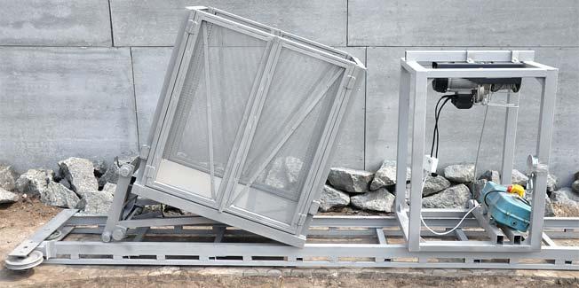 Оборудование подъемника подготовленное к отправке