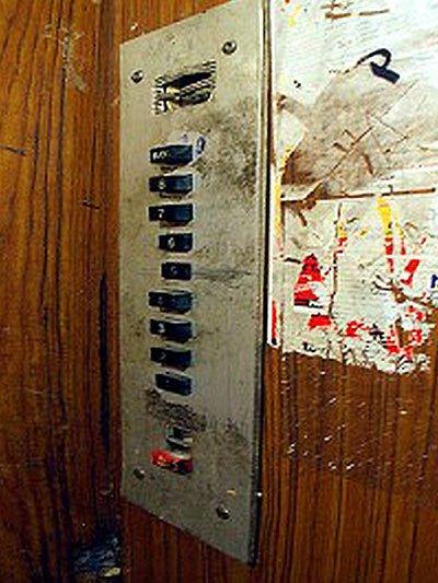 замена кнопок в лифте